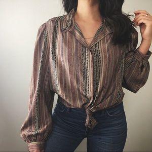 VINTAGE/ tribal pattern blouse